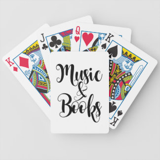 Musik u. Bücher zitieren das modische Bicycle Spielkarten
