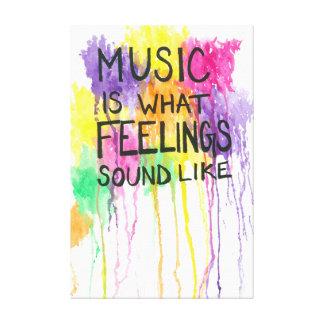 Musik u. Gefühle Leinwanddruck
