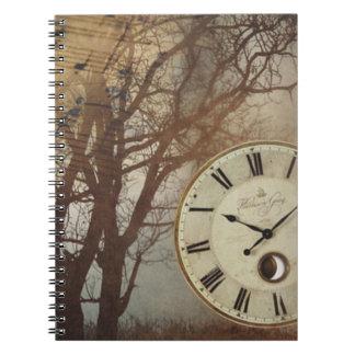 Musik-Uhr und Baum Notizblock