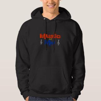 Musik und ich kapuzenpulli