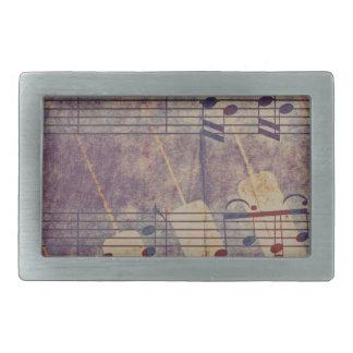 Musik, Vintager Blick B Rechteckige Gürtelschnalle