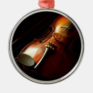 Musik - Violine - die Klassiker Silbernes Ornament