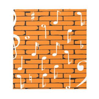Musik-Wand-Hintergrund Notizblock