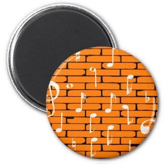 Musik-Wand-Hintergrund Runder Magnet 5,7 Cm