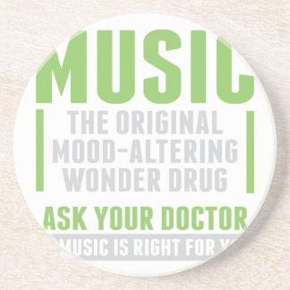 Musik-Wunder-Droge Sandstein Untersetzer