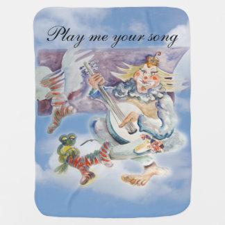 Musik-Zeit in den Wolken Babydecke