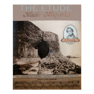 """Musik-Zeitschrift """"die Etüde"""" des Fingalls Ausgabe Poster"""