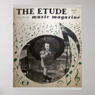 """Musik-Zeitschrift """"die Etüde"""" im April 1940 Plakate"""