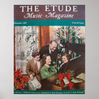 """Musik-Zeitschrift """"die Etüde"""" im Dezember 1937 Poster"""