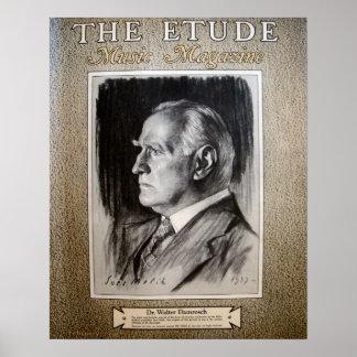 """Musik-Zeitschrift """"die Etüde"""" im Februar 1938 Plakat"""
