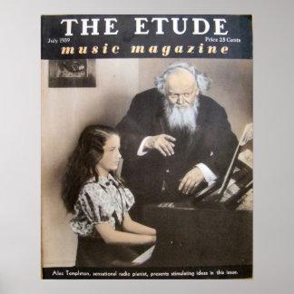 """Musik-Zeitschrift """"die Etüde"""" im Juli 1939 Poster"""