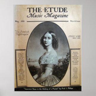 """Musik-Zeitschrift """"die Etüde"""" im Mai 1938 Poster"""
