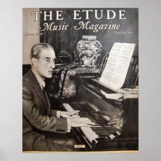"""Musik-Zeitschrift """"die Etüde"""" im März 1938 Poster"""