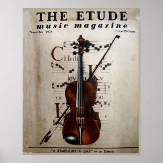 """Musik-Zeitschrift """"die Etüde"""" im November 1938 Poster"""