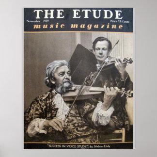 """Musik-Zeitschrift """"die Etüde"""" im November 1939 Plakatdrucke"""