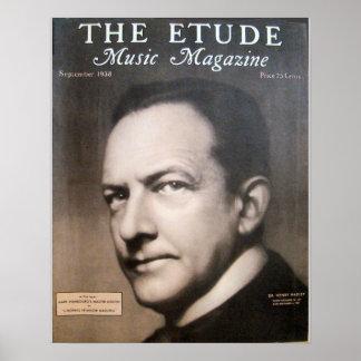 """Musik-Zeitschrift """"die Etüde"""" im September 1938 Posterdrucke"""