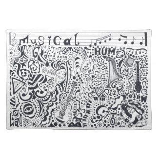 Musikalisch Stofftischset