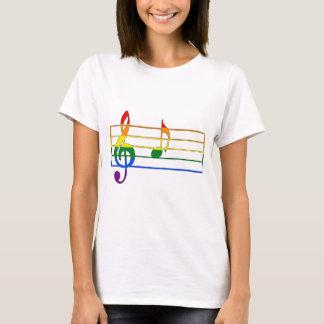 """Musikalische Anmerkung des Regenbogen-""""A"""" T-Shirt"""