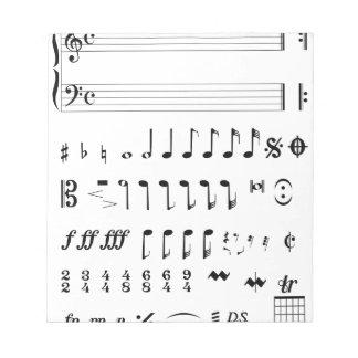 Musikalische Anmerkung Notizblock