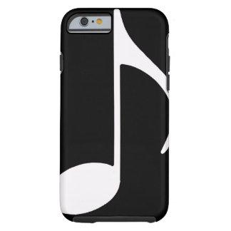 musikalische Anmerkung/Schwarzes Tough iPhone 6 Hülle