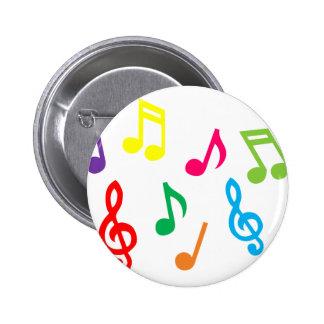 Musikalische Anmerkungen Anstecknadelbutton