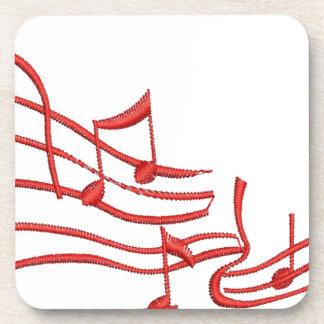 musikalische Anmerkungen Getränkeuntersetzer