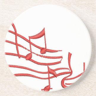 musikalische Anmerkungen Sandstein Untersetzer