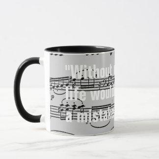 musikalische Anmerkungen u. Zitat Tasse