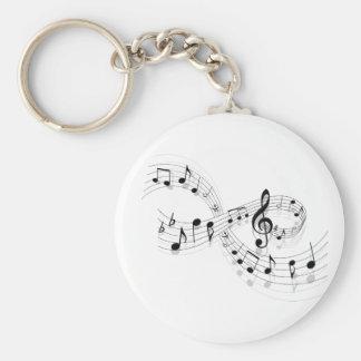 Musikalische Anmerkungen über eine Personal-Linie Schlüsselanhänger