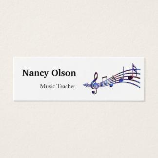 Musikalische Anmerkungs-Musik-Lehrer Mini Visitenkarte