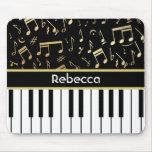 Musikalische Anmerkungs-und Klavier-Schlüssel-Schw Mousepad