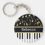 Musikalische Anmerkungs-und Klavier-Schlüssel-Schw Schlüsselband