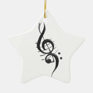 Musikalische Anmerkungs-Weihnachtsverzierung Keramik Ornament