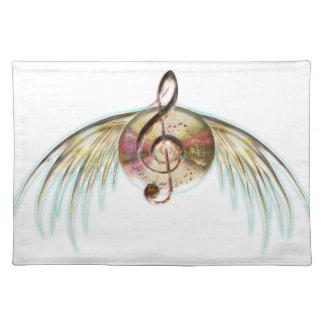 Musikalische Flügel Tischset