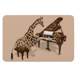 Musikalische Giraffe, die Klavier spielt Magnet