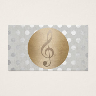 Musikalische Goldkreis-Silber-Tupfen-Musik Visitenkarte
