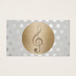 Musikalische Goldkreis-Silber-Tupfen-Musik Visitenkarten