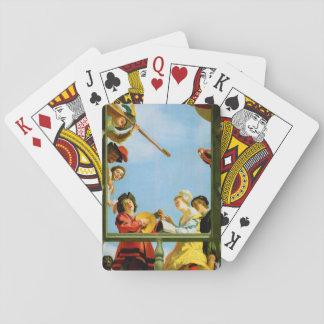 Musikalische Gruppe auf Spielkarten