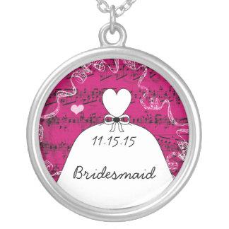 Musikalische Hochzeits-Kleiderbrautjungfern-Halske Personalisierte Halskette