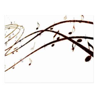 Musikalische Lava merkt Produkte Postkarten
