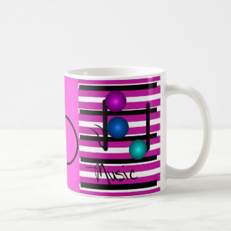 Musikalische Musik-Musiker-Instrument-Sänger Kaffeetasse