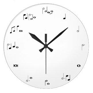 Musikalische Regelungsuhr - Schwarzweiss Uhr