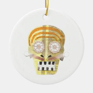 Musikalische Schädel-Verzierung Keramik Ornament