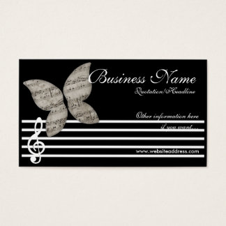 Musikalische Schmetterlings-Visitenkarten Visitenkarten