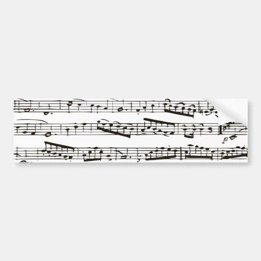 Musikalische Schwarzweiss-Anmerkungen Autoaufkleber