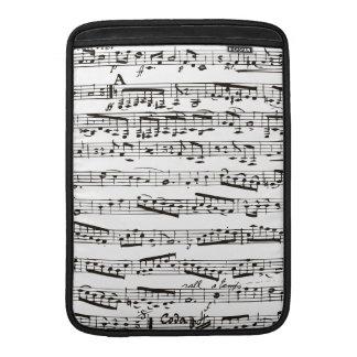 Musikalische Schwarzweiss-Anmerkungen MacBook Sleeves