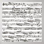 Musikalische Schwarzweiss-Anmerkungen Poster