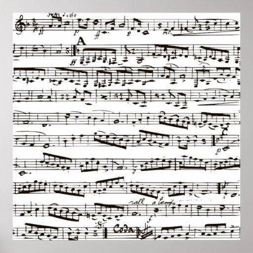 Musikalische Schwarzweiss-Anmerkungen Plakatdrucke