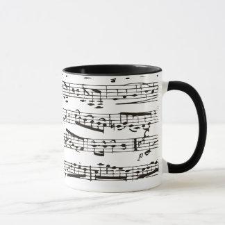 Musikalische Schwarzweiss-Anmerkungen Tasse