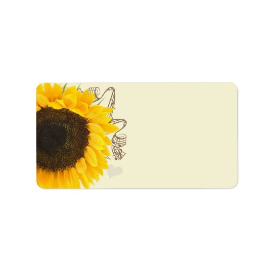 Musikalische Sonnenblume-Adressen-Etiketten Adressetikett